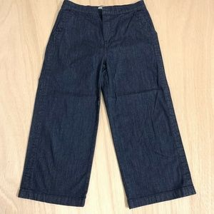 J Crew Rayner Wide Leg Cropped Jean Pants Women 30